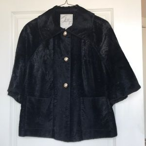 Milly Faux Black Fur Coat
